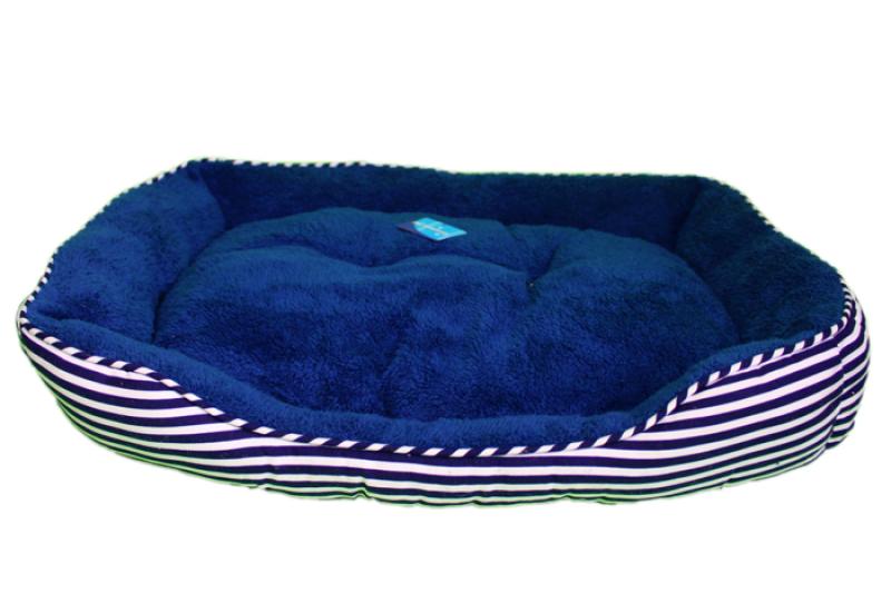 Pruhovaný psí pelíšek - 75x54 cm
