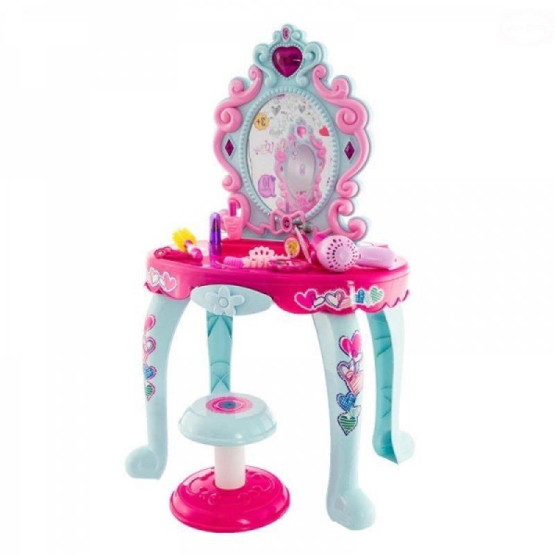Dívčí toaletní stoleček Euro Baby s židličkou a doplňky