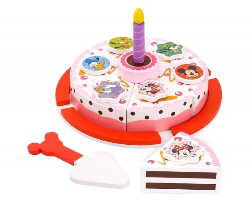 Dřevěný Disney krájecí dort Minnie a přátelé