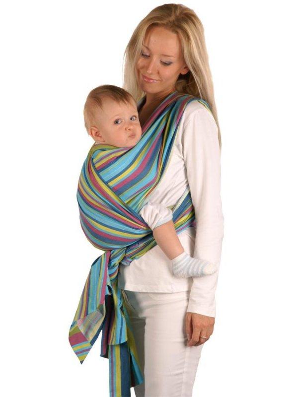 Šátek Womar na nošení dětí - zelená