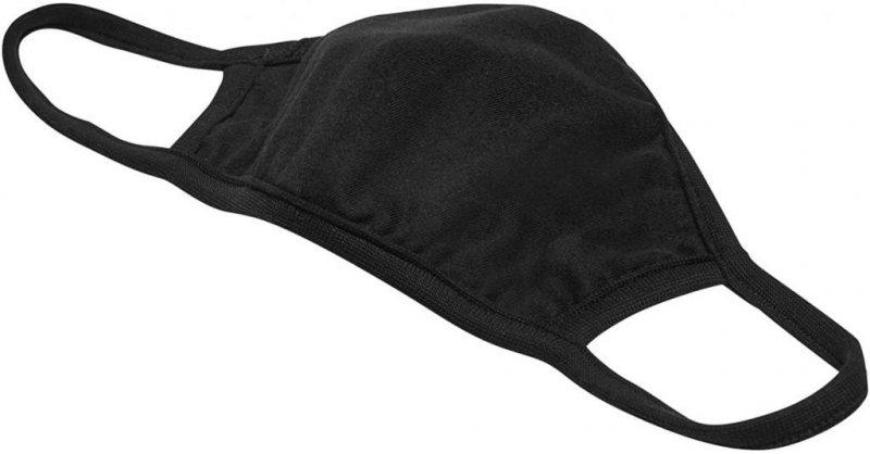 Bavlněná rouška dvouvrstvá - černá 2 ks