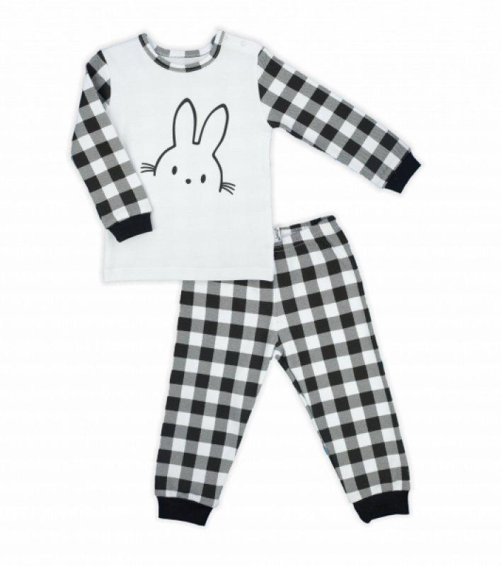 Nicol dětské pyžamo Nicol Bunny kárko - černobílé - 86 (12-18m)