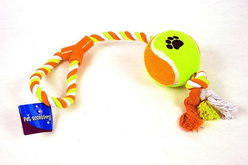 Velký tenisák na laně - 50x10 cm