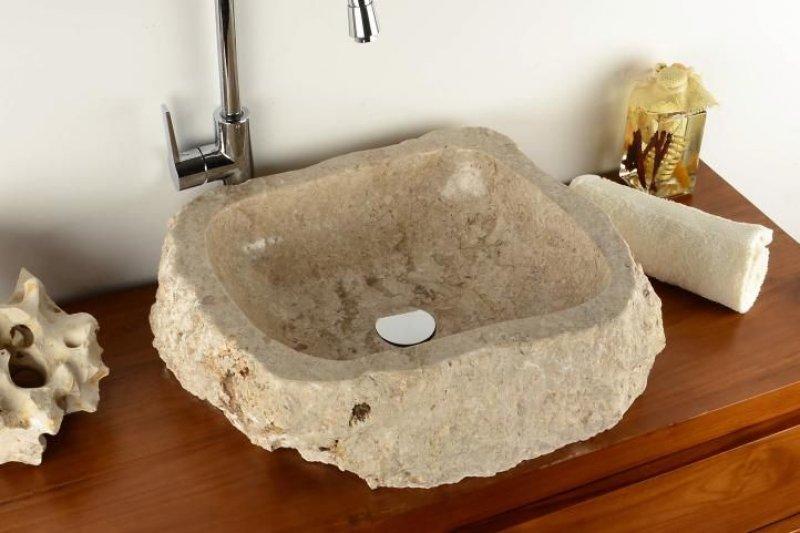 DIVERO umyvadlo z přírodního kamene Tortona