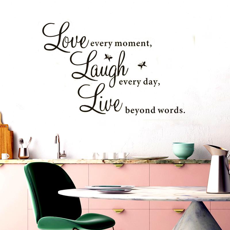 Samolepka na zeď - Live every moment