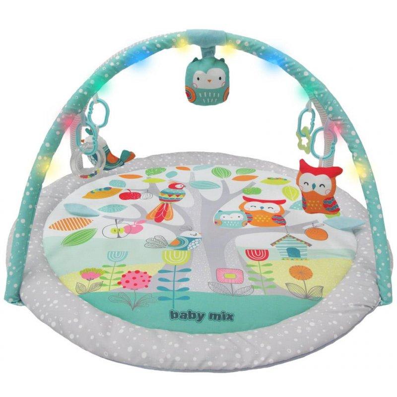 Hrací deka s melodií a LED světly Baby Mix ptáčci - dle obrázku