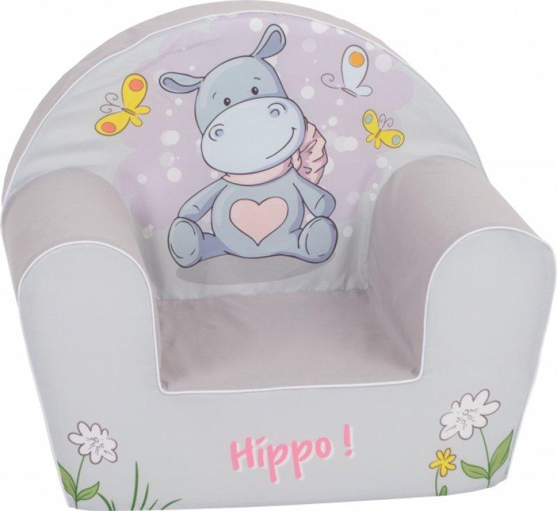 Delsit Dětské křesílko, pohovka - Hippo šedé