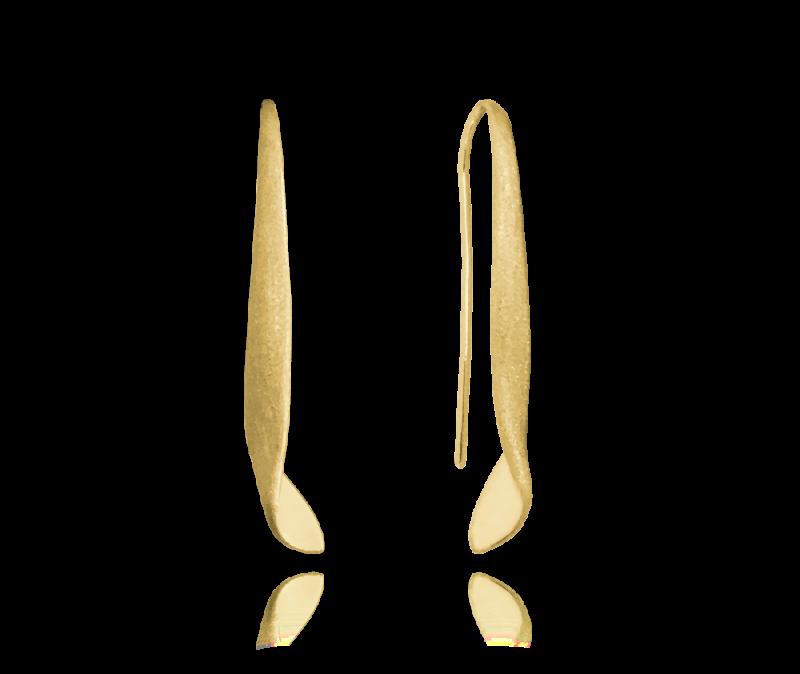 Luxusní pozlacené stříbrné náušnice