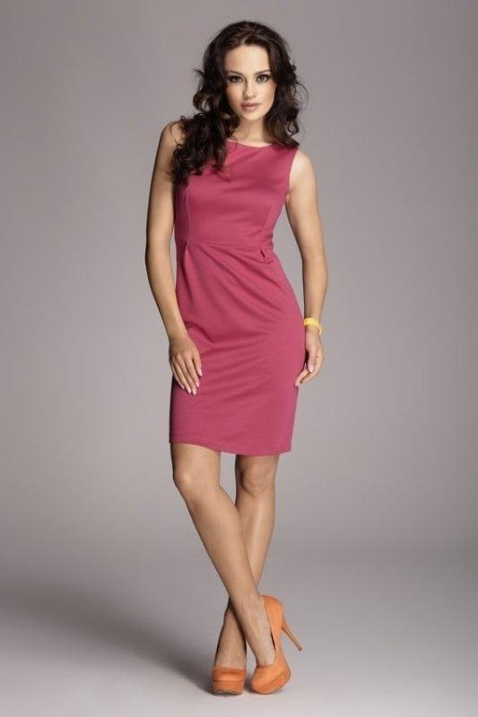 Šaty FIGL M079 fuchsiově růžové - M