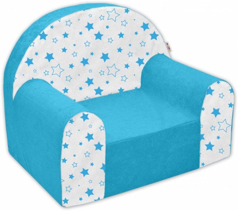 Dětské křesílko/pohovečka Nellys ® - Magic stars - modré