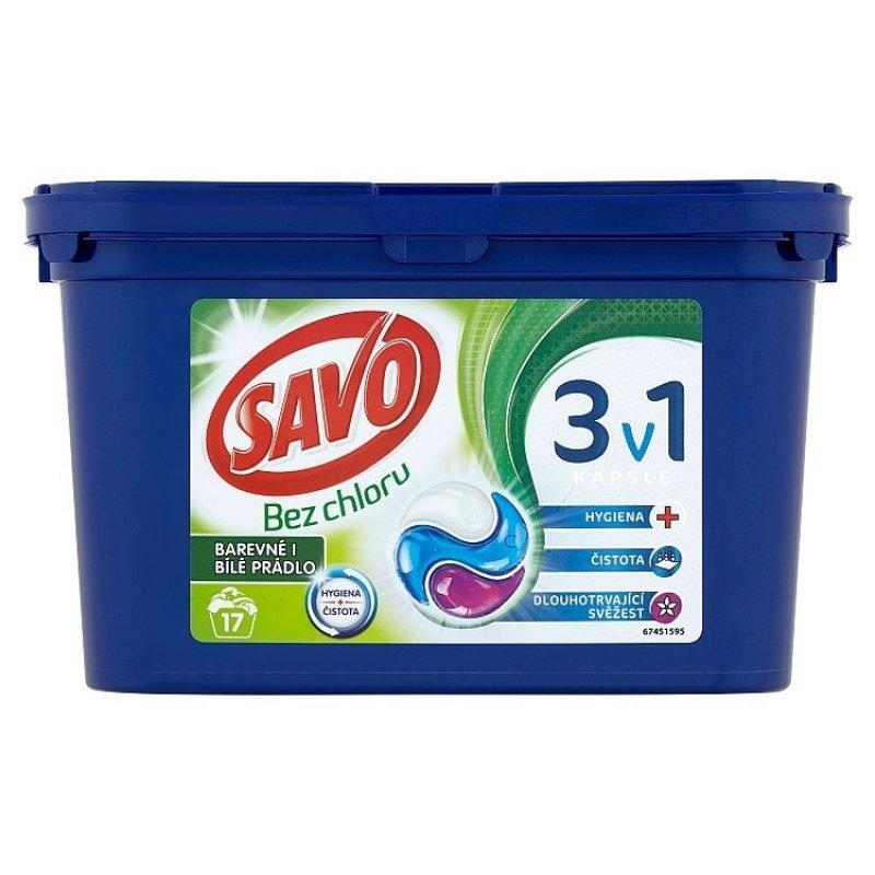 Universal trio kapsle na praní bez chloru (17 praní)