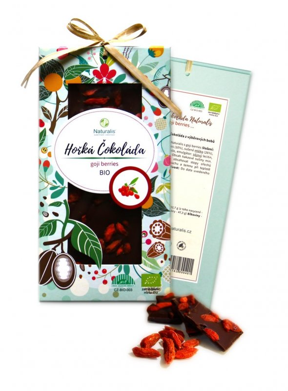 BIO Čokoláda Naturalis s goji berries - 80g
