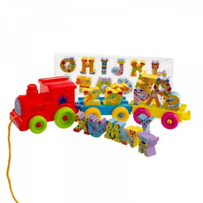 Tahací hračka Euro Baby Vláček - abeceda