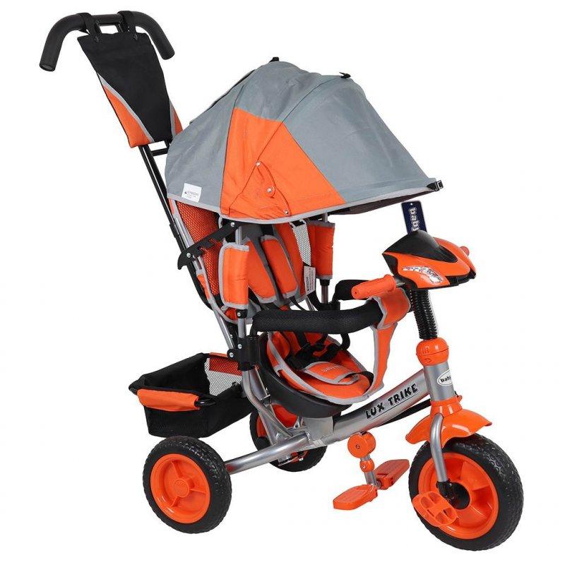 Dětská tříkolka s LED světly Baby Mix Lux Trike šedo- oranžová