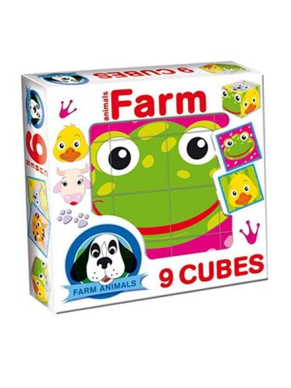 Skládací obrázkové kostky Farm animals - dle obrázku