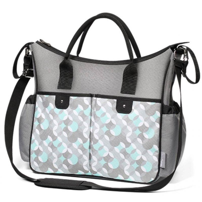 Stylová taška na kočárek BASIC SO CITY Baby Ono šedo - tyrkysová