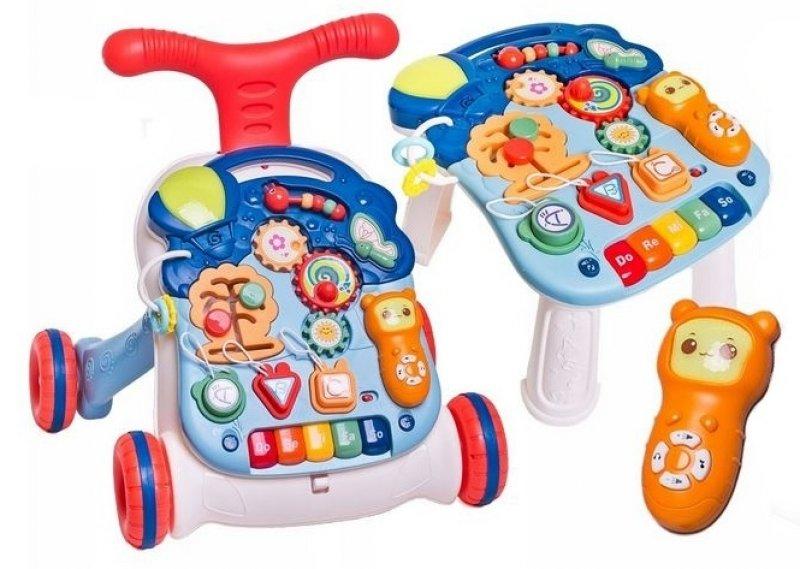 Dětské interaktivní chodítko 3 v 1 - granátové