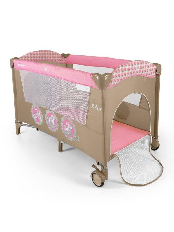 Cestovní postýlka Milly Mally Mirage - pink toys - růžová