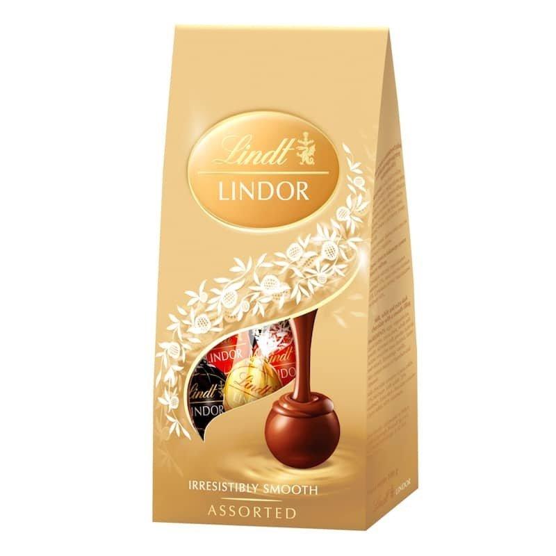 Lindor Směs mléčné a hořké čokolády s jemnou krémovou náplní 100 g