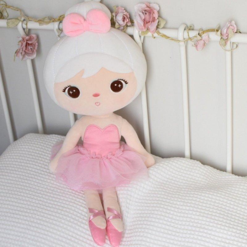 Hadrová panenka Metoo Baletka - růžová