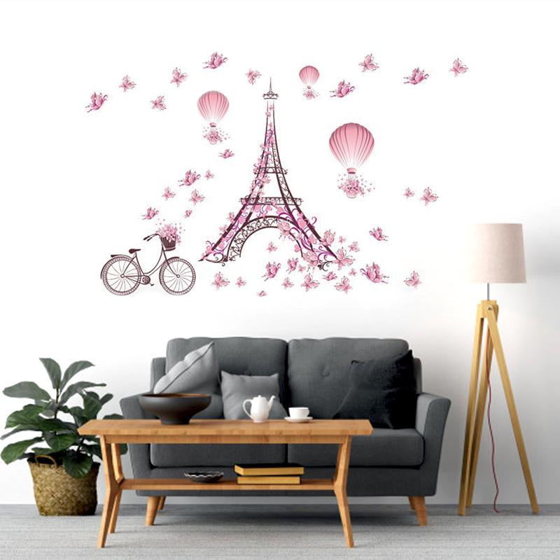 Samolepka na zeď - Eiffelovka