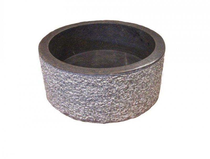 Umyvadlo z přírodního kamene MIRUM 509 Ø45 cm Black
