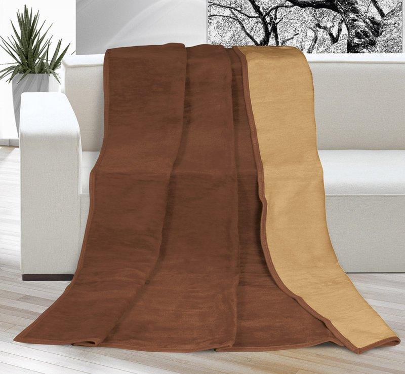 Deka Kira PLUS jednolůžko 150x200cm čokoládová/oříšková