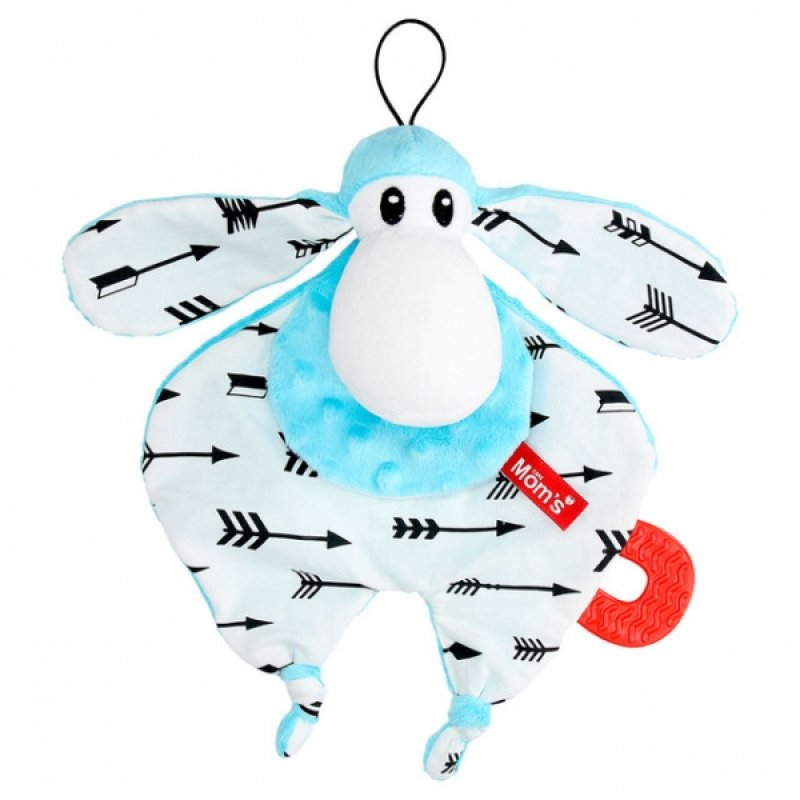 Hencz Toys Plyšová hračka v kontrastních barvách Sheepi - modrá