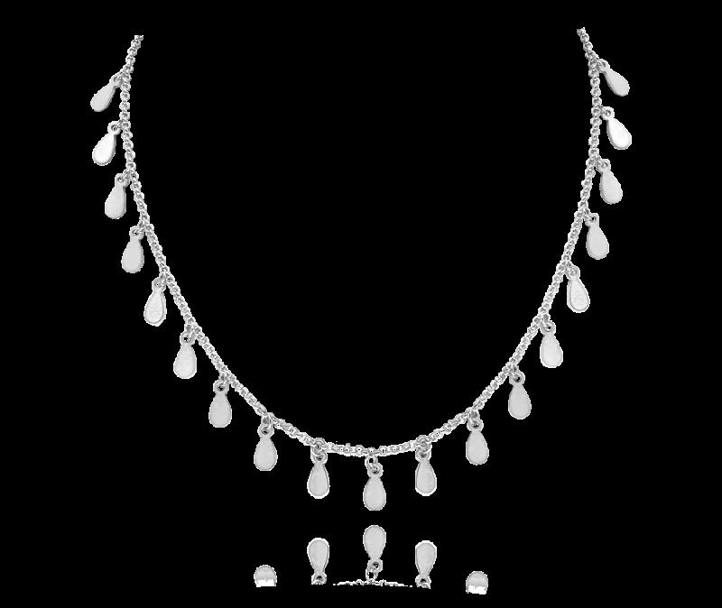 Stříbrný náhrdelník s drobnými přívěsky