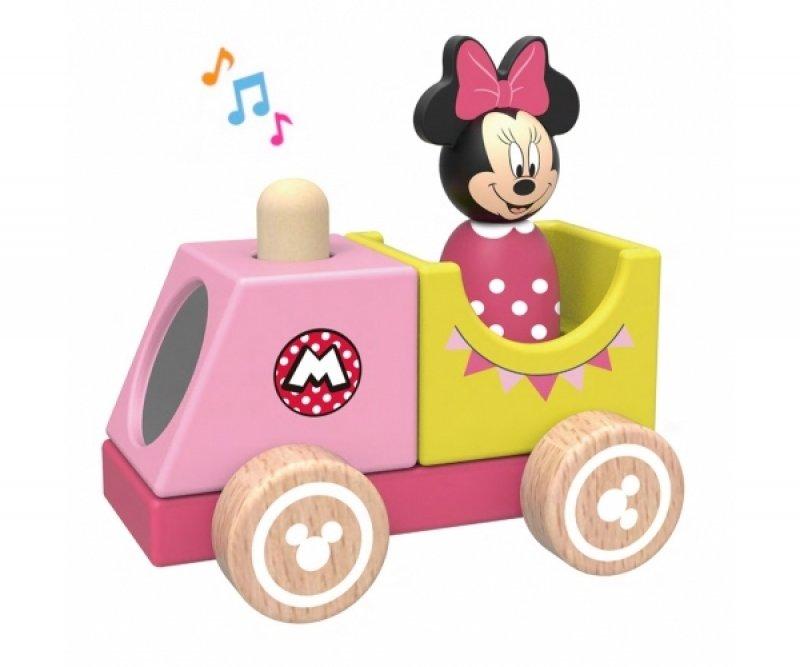 Dřevěný Disney vláček s Minnie, 12x8x12 cm