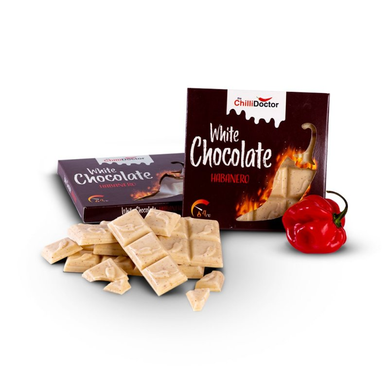 Bílá čokoláda s chilli Habanero 50 g