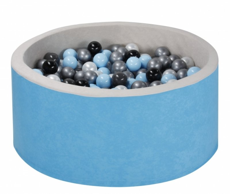 NELLYS Bazén velký pro děti 90x40cm + 200 balónků - modrý