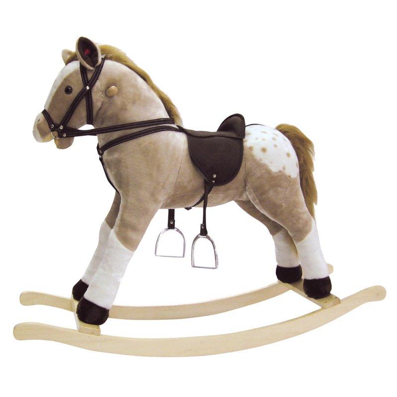 "Bino ""Puntík"" Houpací kůň plyšový, maxi koník"