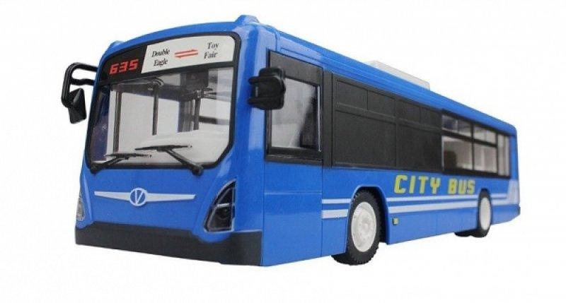Městský autobus na dálkové ovládání - modrý