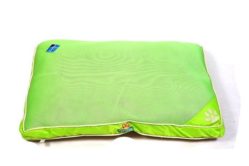 Žlutozelená psí matrace - 90x60 cm