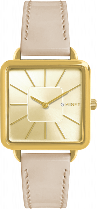 Béžové dámské hodinky MINET OXFORD GOLDEN BEIGE