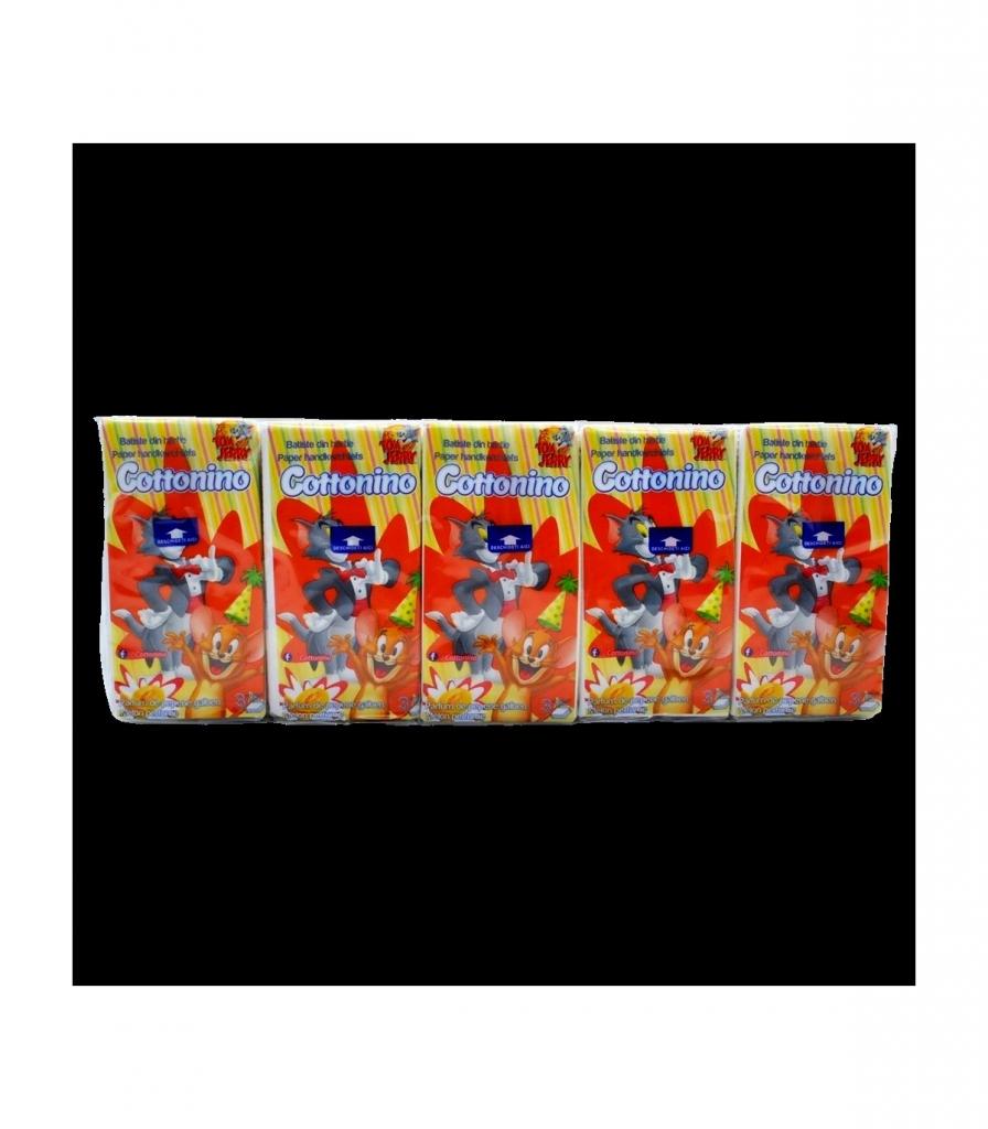Cottonino papírové kapesníčky 3 vrstvé 10x10ks