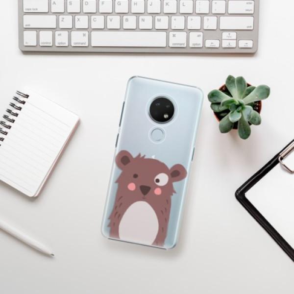 Plastové pouzdro iSaprio - Brown Bear - Nokia 6.2