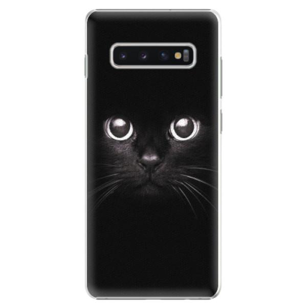 Plastové pouzdro iSaprio - Black Cat - Samsung Galaxy S10+