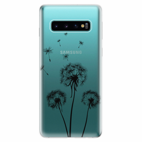 Silikonové pouzdro iSaprio - Three Dandelions - black - Samsung Galaxy S10