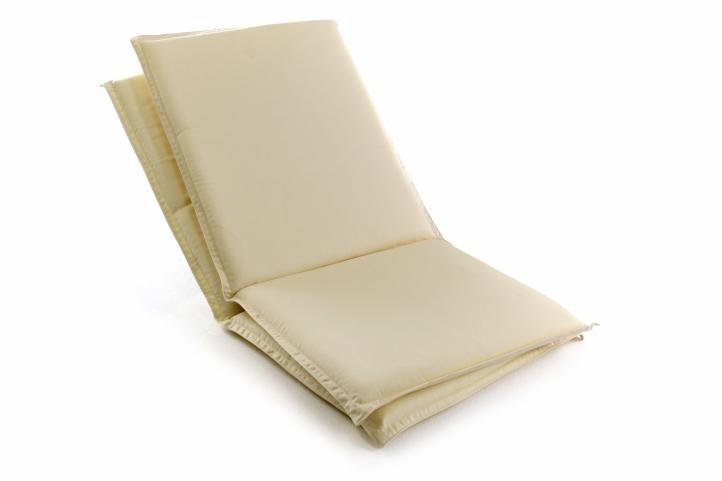 Sada 2 ks polstrování na nízké zahradní židle - krémové