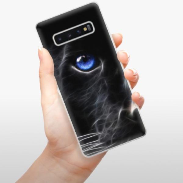 Odolné silikonové pouzdro iSaprio - Black Puma - Samsung Galaxy S10+