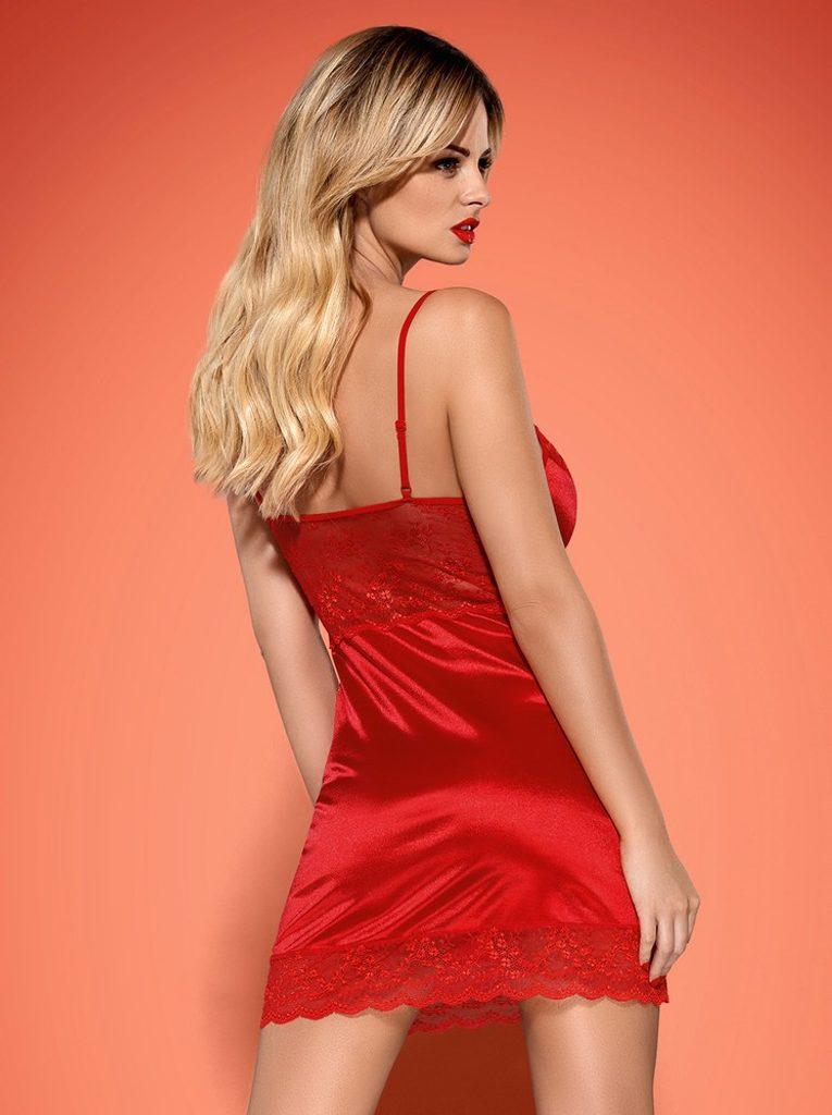Košilka Obsessive Lovica chemise - Červená