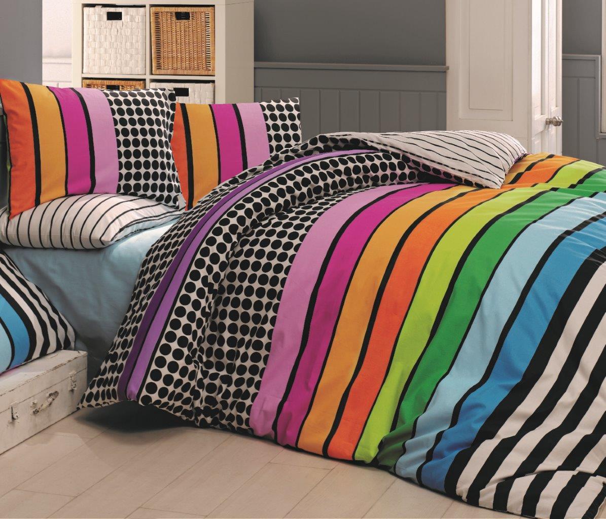 Povlečení bavlna 140x200, 70x90cm Stripes DUO, Výběr zapínání: