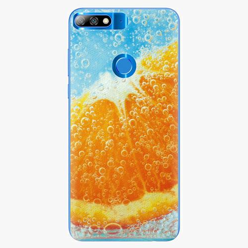 Silikonové pouzdro iSaprio - Orange Water - Huawei Y7 Prime 2018