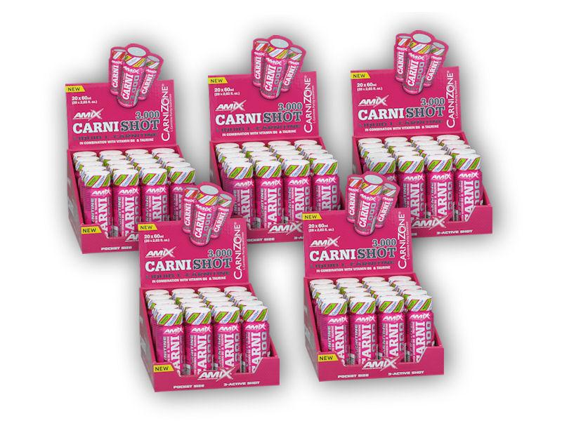 4x CarniShot 3000 20x60ml + 1x