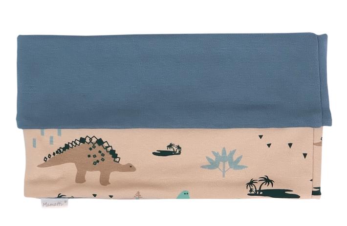 Mamatti Nákrčník/komínek Dinosaurus - krémová s potiskem - univerzální