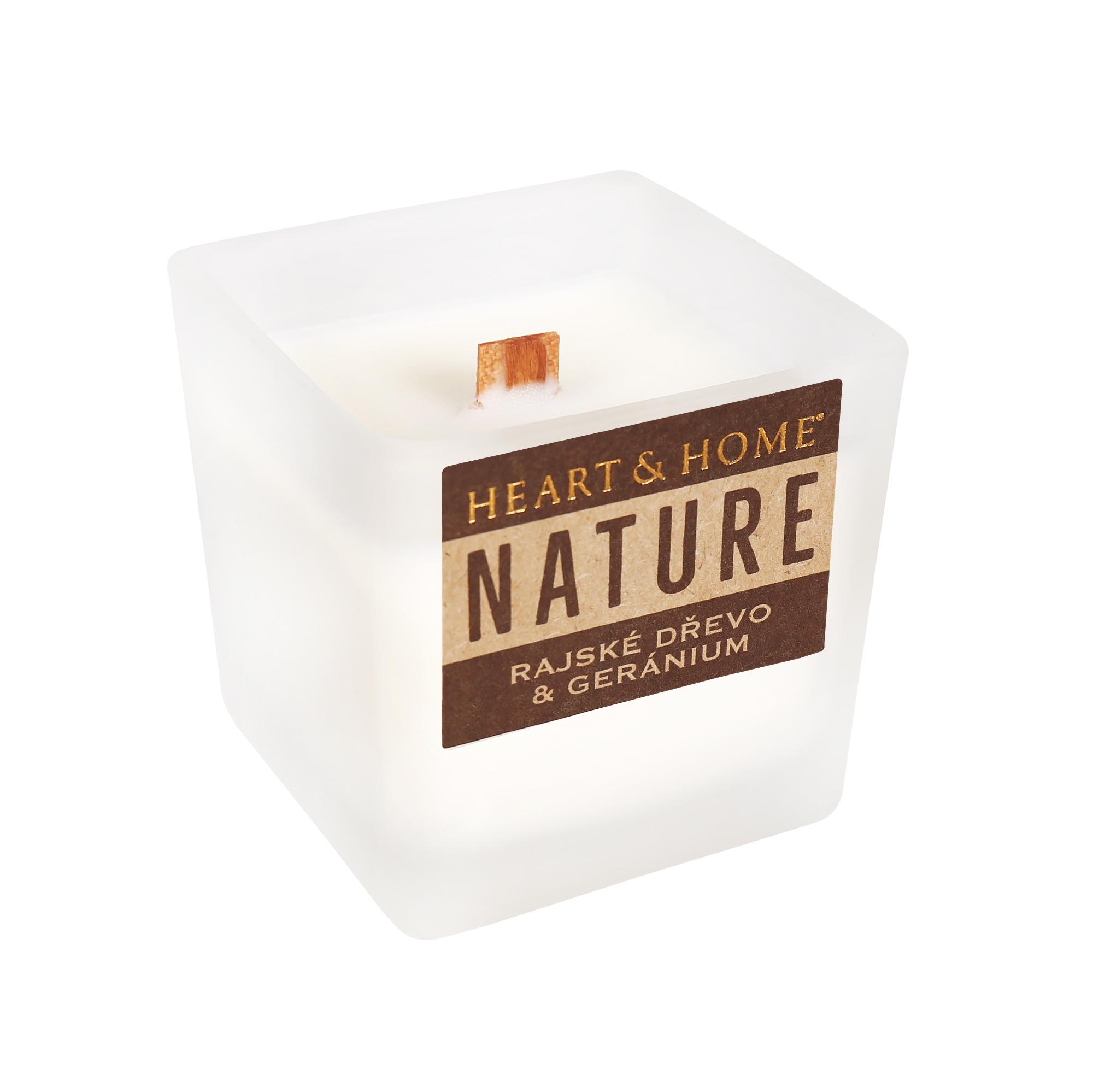 Malá svíčka - Rajské dřevo a geránium