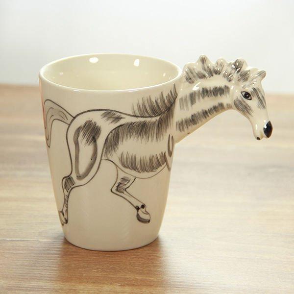 Hrnek s 3D zvířátkem - kůň