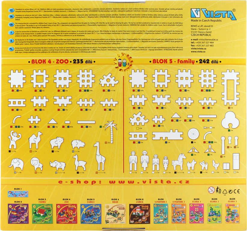 SEVA BLOK 5 Family plastová STAVEBNICE 242 dílků